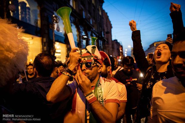 شادی هواداران در سنت پترزبورگ