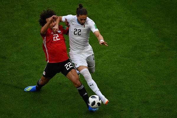 مصر تخسر أمام الأوروغواي 1- 0