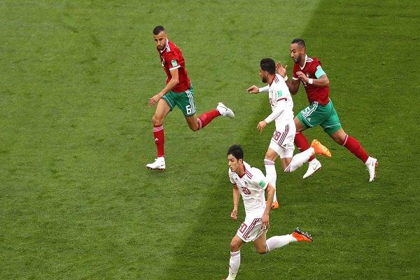 دیدار تیم ملی فوتبال ایران و مراکش