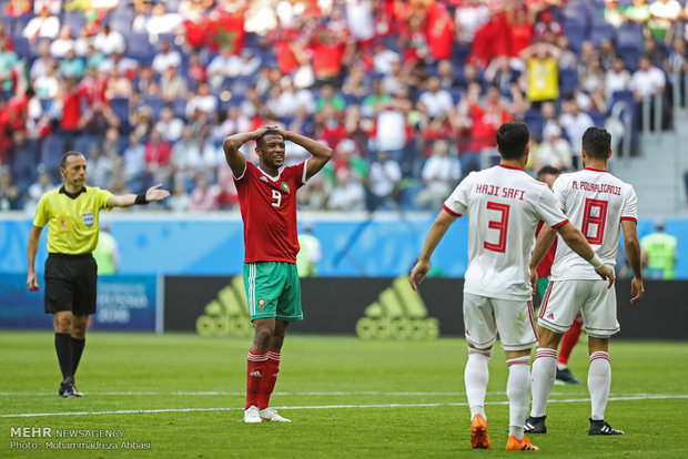 Iran 1-0 Morocco at World Cup 2018