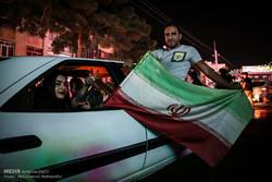 الفرحة تعم الشوارع عقب فوز المنتخب الايراني على المنتخب المغربي في مونديال روسيا