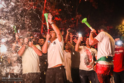 Tehraners celebrate victory over Morocco