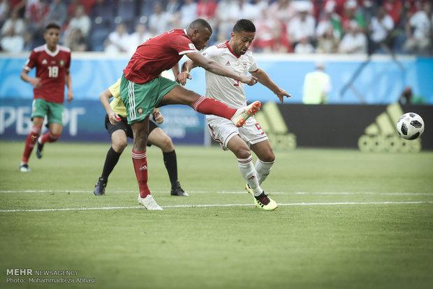 صور فرح منتخب ايران لكرة القدم بعد فوزه على المنتخب المغربي