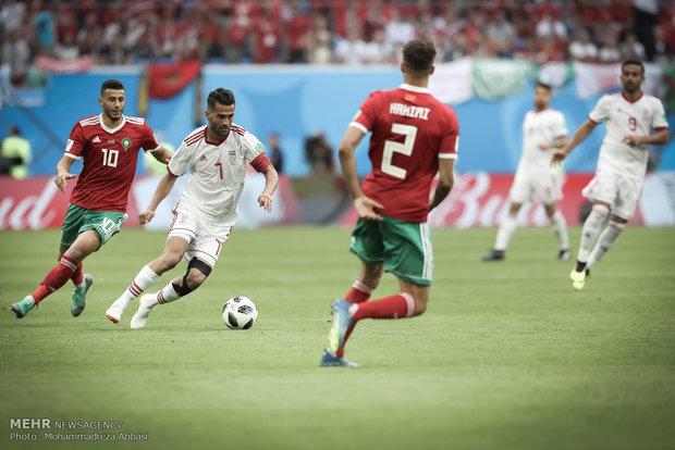 دیدار تیم های ملی فوتبال ایران و مراکش