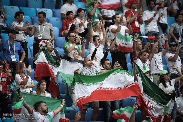 دیدار تیم های فوتبال ایران و مراکش