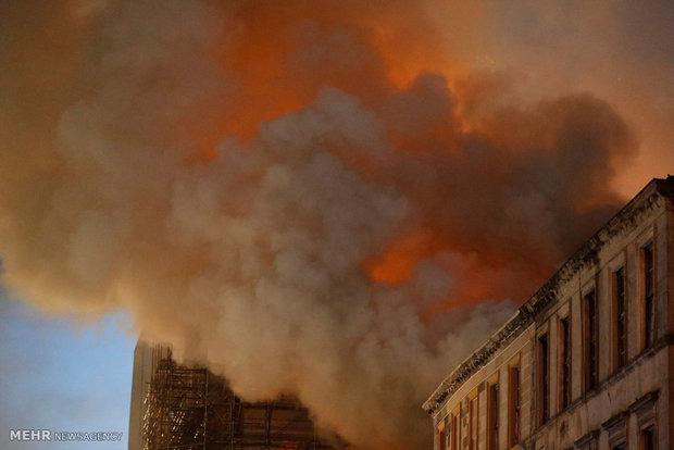 İskoçya'da korkunç yangından kareler