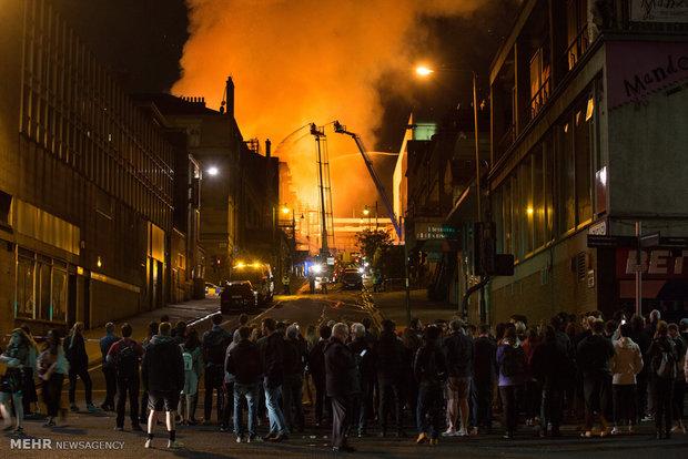 آتش سوزی در مدرسه هنر گلاسکو