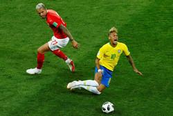 برازیل اورسوئٹزرلینڈ کے درمیان میچ ایک ایک گول سے برابر