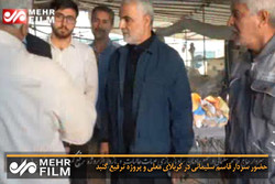 حضور سردار قاسم سلیمانی در کربلای معلی و پروژه ترفیع گنبد