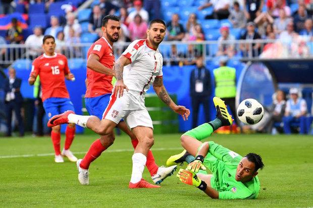 دیدار تیم های ملی فوتبال صربستان و کاستاریکا