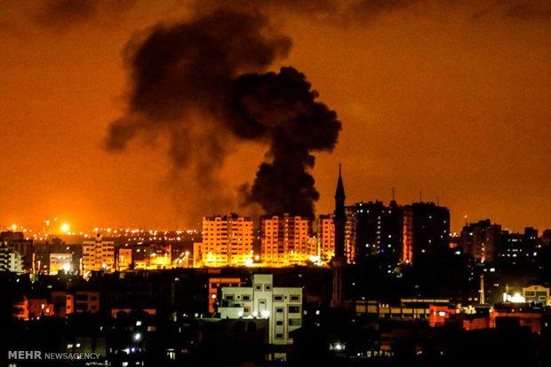 حمله هوایی رژیم صهیونیستی به شرق نوارغزه