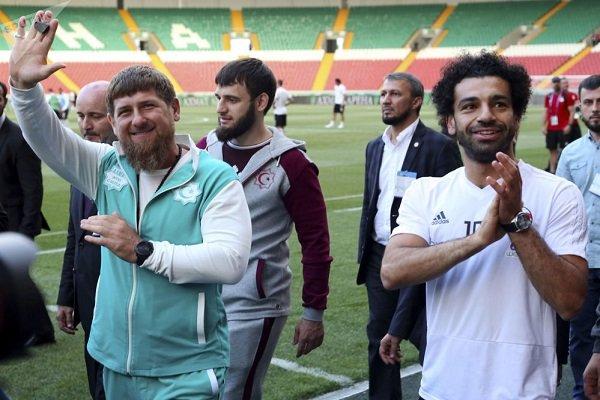 رئیس جمهور چچن به دیدار محمد صلاح ستاره فوتبال مصر رفت