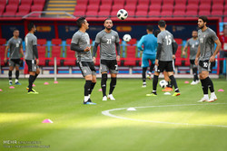Iran, Spain training session before Wed. match