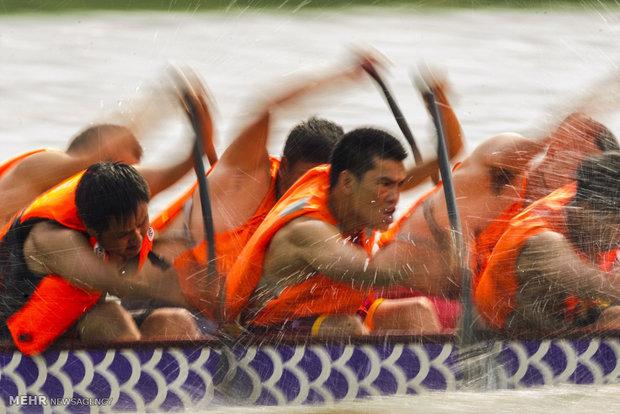 جشنواره قایق رانی دراگون بوت در چین
