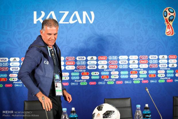 المؤتمر الصحفي لكارلوس كيروش قبل مباراة ايران واسبانيا