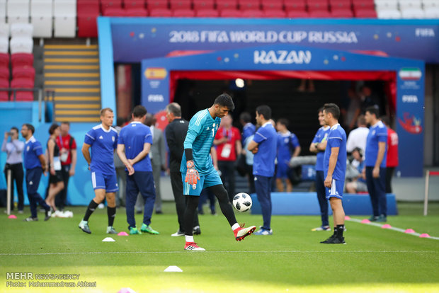 Iran's training session before meeting Spain