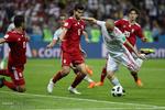 روس میں ایران اور اسپین کی ٹیموں کے درمیان مقابلہ