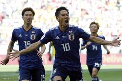 دیدار تیم های ملی فوتبال کلمبیا و ژاپن