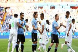 پیروزی اروگوئه مقابل عربستان در نیمه نخست