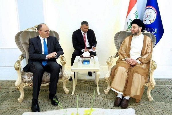 دیدار «سید عمار حکیم» با سفیر آمریکا در عراق