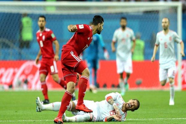 اسبانيا تهزم إيران بصعوبة بالغة