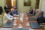 دیدار کمال خرازی با وزیر امور خارجه اسپانیا
