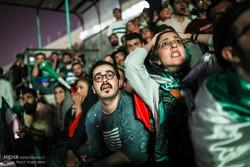 آزادی اسٹیڈیم  میں ایران اور اسپین کی قومی ٹیموں کے درمیان میچ کا مشاہدہ