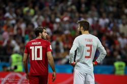 دیدار تیم های فوتبال ایران و اسپانیا