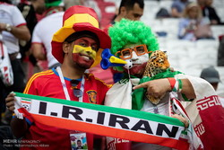 Iranian football fans at Kazan Arena