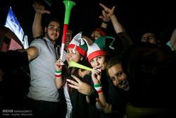 شوارع طهران بعد لقاء ايران واسبانيا ليلة أمس /صور