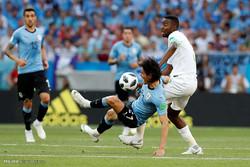 دیدار تیم های ملی فوتبال اروگوئه و عربستان