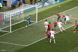 دیدار تیم های ملی فوتبال پرتغال و مراکش