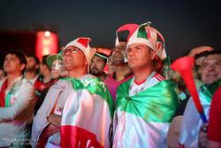 تماشای دیدار فوتبال ایران و اسپانیا در فن فست مسکو