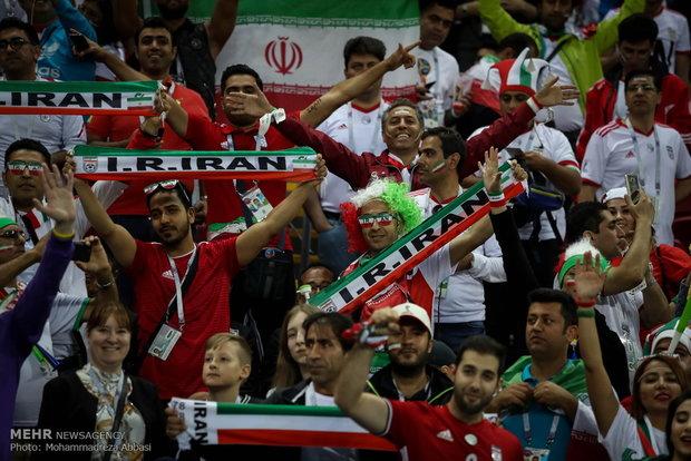 Iranian fans at Kazan Arena