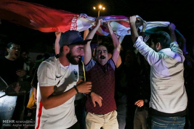 شوارع طهران بعد لقاء ايران واسبانيا ليلة أمس
