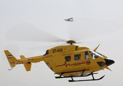 Helicopter emergency medical service in Iran to transport, transfuse blood