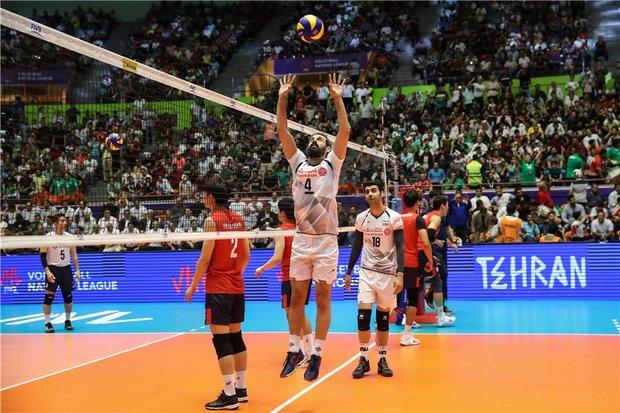ايران تهزم كوريا الجنوبية في دوري الامم لكرة الطائرة