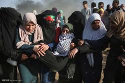 شمار مجروحان تظاهرات زنان فلسطینی در مرزهای غزه به ۱۳۴ نفر رسید