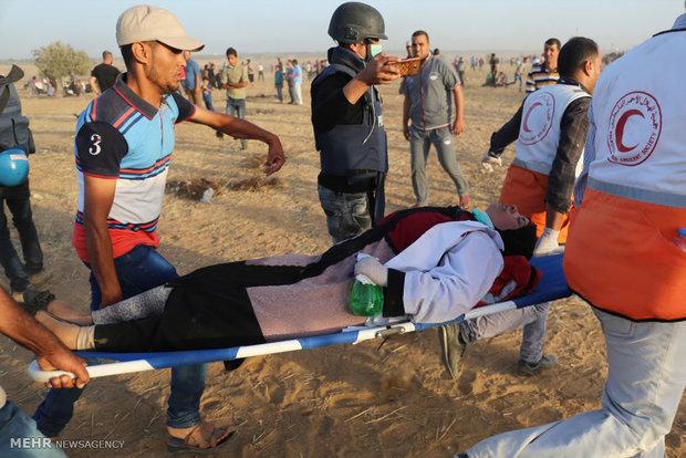 """اربعة شهداء فلسطينيين وعدة اصابات بجمعة""""المقاومة خيارنا"""""""