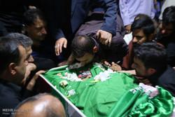وداع با شهید شاهرخ دایی پور در معراج شهدای تهران