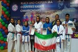 İranlı milli karatecilerden Bakü'de büyük başarı