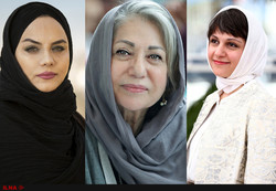 This combination photo shows Iranian filmmakers Narges Abyar (L), Rakhshan Bani-Etemad (C) and Aida Panahandeh.