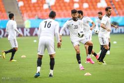 روس میں ایران کی قومی فٹبال ٹیم کی تمرین