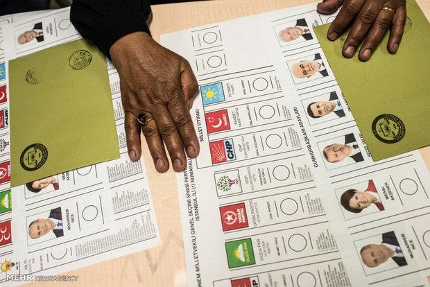 """فرز الأصوات البرلمانية والرئاسية التركية/ """"أردوغان"""" 60٪ ، """"محرم إينجة"""" 25٪"""