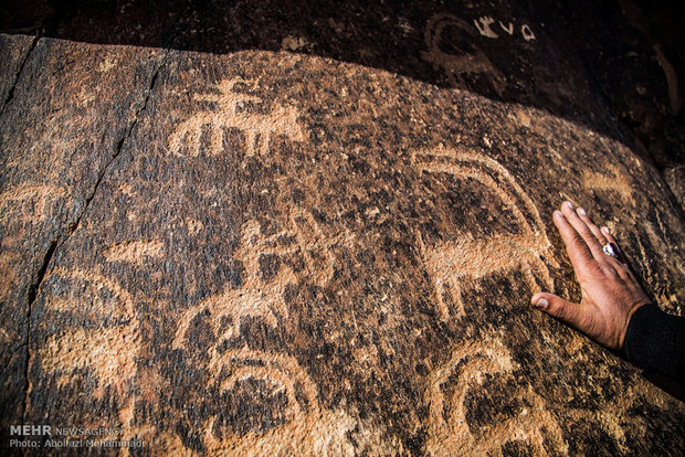 12000-year-old Arnan petroglyphs