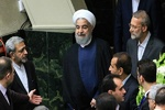 روحانی و لاریجانی در صحن مجلس