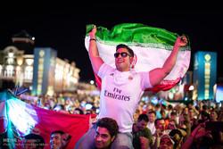تجمع مشجعي المنتخب الايراني  قبيل مباراة ايران - البرتغال / صور