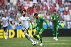 دیدار تیم های عربستان و مصر - محمد صلاح