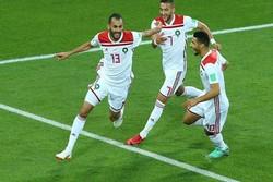 دیدار تیم های اسپانیا و مراکش