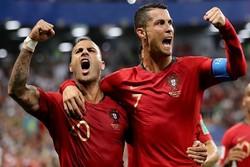 دیدار تیم های ملی ایران و پرتغال - رونالدو